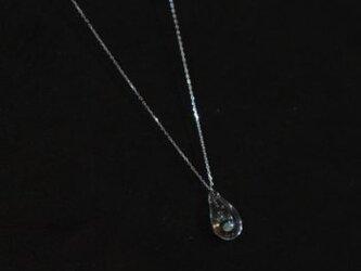 moonアロマネックレス しずく [SV925ニッケルフリーロジウムメッキ]の画像