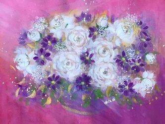 「Fancy flower」(B4)水彩原画の画像
