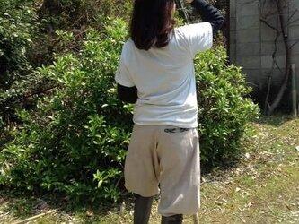 植物染めの野良着★オーガニックコットンの画像
