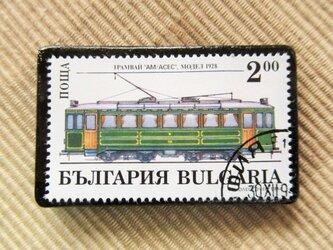 アップサイクル 鉄道切手ブローチ 6161の画像