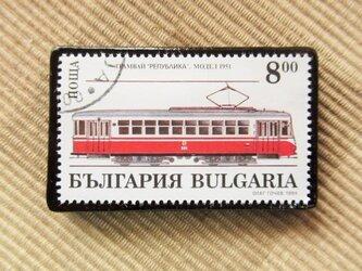 アップサイクル 鉄道切手ブローチ 6164の画像