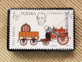 アップサイクル 鉄道切手ブローチ 6165の画像