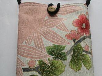 4858 花柄の着物で作ったポシェット #送料無料の画像