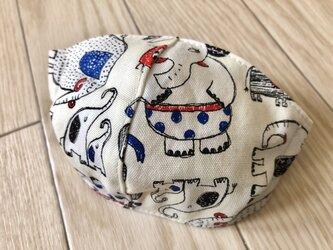 kidsマスク(白いゾウ)の画像