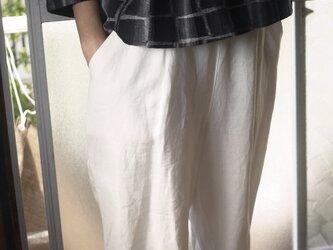 久留米絣スクエア柄前タックトップスの画像
