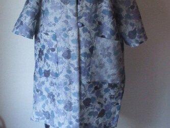 和紙を思わせる羽織のリメイク コーディガン 絹の画像