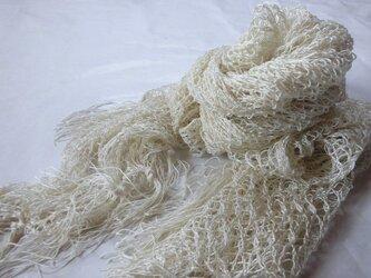 捩り織りシルクマフラー の画像