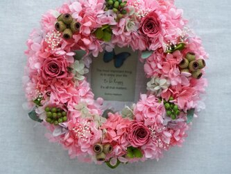 Wreath ~ Sweet Pink ~ 20cmの画像