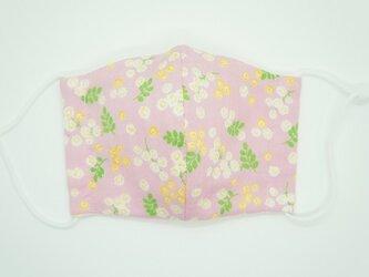 【ダブルガーゼの立体布マスク】《子ども用》ミモザ・ピンクの画像