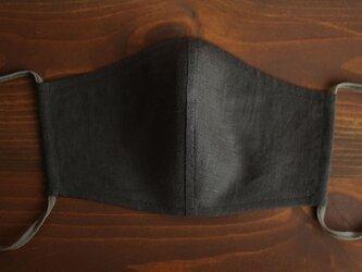 【アイビーグレー/立体マスク】 夏向き 2重仕様 リネンマスク 抗菌 防臭 速乾 布マスク z021g-ibg2の画像