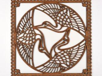 ビッグウッドフレーム「舞鶴」(木の壁飾り)の画像