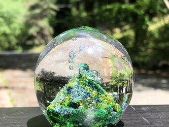 さんかくお山のペーパーウェイト ガラスの画像