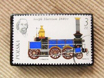 アップサイクル 鉄道切手ブローチ 6167の画像