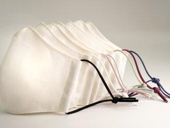 【選べる7色】上品カラーゴム紐の洗える布マスク【男女兼用】の画像