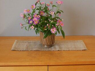 裂織    敷物 ランナー 草木染   ☆送料無料【234】の画像