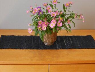 裂織    敷物 ランナー 草木染 藍   ☆送料無料【236】の画像