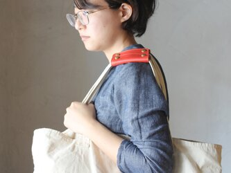 【2本セット】本革 ハンドル カバー 持ち手カバー  全7色 赤  重さ軽減/汚れ防止 エコバック キャンバス バッグ などにの画像