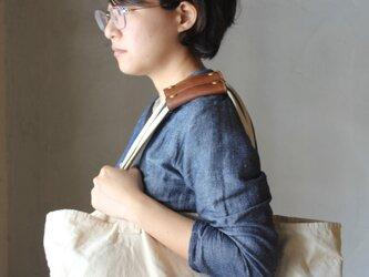 【2本セット】本革 ハンドル カバー 持ち手カバー  茶2 重さ軽減/汚れ防止 エコバック キャンバス バッグ が おしゃれ にの画像