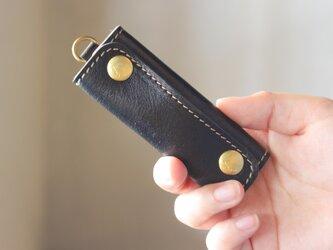 【単品販売】本革 ハンドル カバー 持ち手カバー  黒  重さ軽減/汚れ防止 エコバック キャンバス バッグ が おしゃれ にの画像