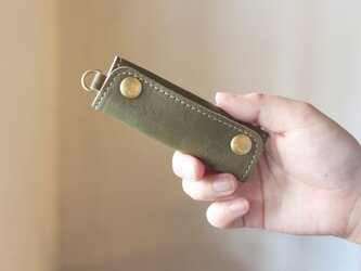 【単品販売】本革 ハンドル カバー 持ち手カバー  オリーブ重さ軽減/汚れ防止 エコバック キャンバス バッグ が おしゃれ にの画像