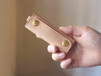 【単品販売】本革 ハンドル カバー 持ち手カバー  生成り重さ軽減/汚れ防止 エコバック キャンバス バッグ が おしゃれ にの画像