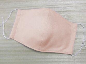接触冷感 夏用 立体マスク 大人用大きめ ◆伸縮コットンニット&ダブルガーゼ 3層◆ ピンク1枚 マスク用ゴム使用の画像