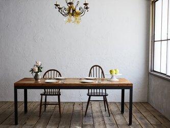 [造船古材]ダイニングテーブル(ロングサイズ):Vintage Long Table(※オーダーメイド対応可)【受注生産】の画像