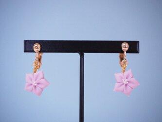 和菓子のイヤリング(キキョウ)の画像