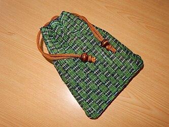 裂き織の 信玄袋 巾着袋 リバーシブルの画像