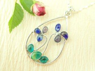 菫(スミレ)のネックレス~しずく型植物シリーズ⑦~の画像