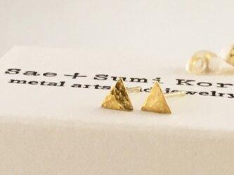 K24 Pure Gold Triangle ◇小さな純金の三角形◇スタッドピアス◇片耳分~の画像