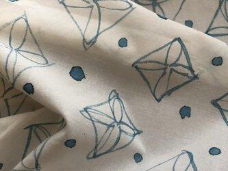 handpaintedcloth(blue glay)の画像