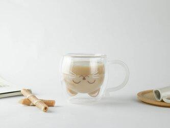 GOODGLAS マグシリーズ『ねこ・スマイル』耐熱ホットドリンクOK・結露しにくいグラスの画像