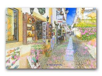 「ちょっと寄り道して行こうか」 ほっこり癒しのイラストポストカード2枚組 No.1063の画像