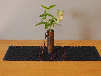裂織    敷物 ランナー 草木染  藍  ☆送料無料【057】の画像