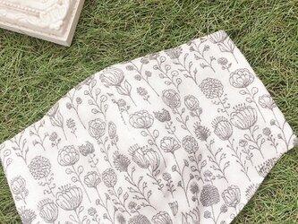 立体マスク サークルフラワー 北欧 花 キッズ オトナの画像