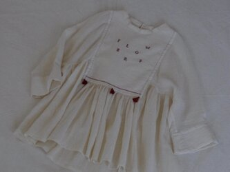 FLOWERS cross stitch blouse(予約販売)の画像