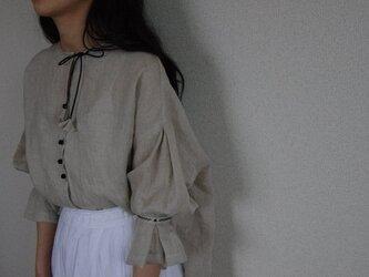 French linen blouse(予約販売)の画像