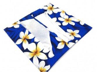 ハワイアン ティシュペーパーポーチ プリメリア柄 ロイヤル[mht-fb012L]の画像