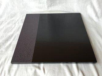 漆塗りの敷膳(黒・い)の画像