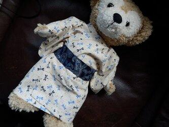 ダッフィー Sタイプ用 浴衣と作り帯 トンボ柄の画像