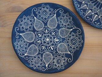 青いお皿(中3)の画像