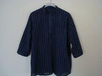 M様ご依頼品*涼しげ!「夏のスタンドカラーシャツ」の画像