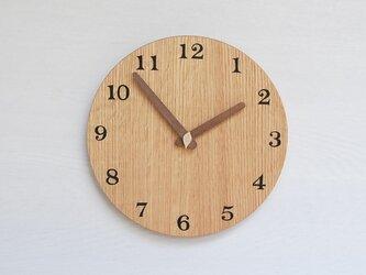 直径24.0cm 掛け時計 オーク【2020】の画像