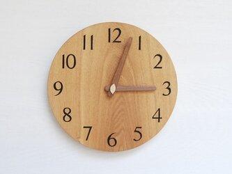 直径24.0cm 掛け時計 タモ【2021】の画像
