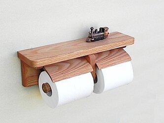 レッドオーク製トイレットペーパーホルダーVer.13(無垢材)の画像