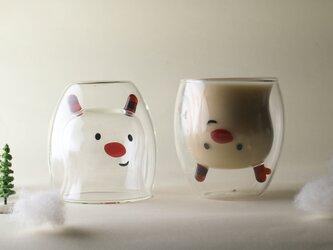 GOODGLAS 角のガラス細工が特徴『鹿・ルドルフ』耐熱ホットドリンクOK・結露しにくいグラスの画像