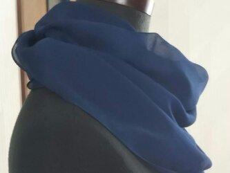藍染 シルク シフォン ストールの画像