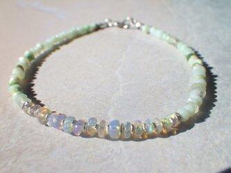 *sv925*Opal& Peruvian Blue Opal Sea Braceletの画像