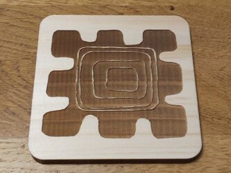 ひのきのアフリカ柄コースター(四角)の画像
